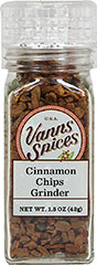 Cinnamon Chips Grinder <b><p> From the Manufacturer:</b></p><p>Cinnamon Chips are trimmings from shoots of the Cinnamomum tree. Cinnamon is most commonly used to enhance the sweetness of baked goods like pastries, pies, breads, cakes and puddings. Cinnamon also lends itself to more complicated and bold recipes, such as curries, soups, stews and lamb dishes, to boost their natural flavors. Equipped with a convenient grinder built into the bottle, Cinnamon Chips can b