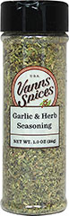 Garlic & Herb Seasoning <strong></strong><p>A blend of Italian flavors used for seasoning everything from sauces, poultry, and vegetables to dipping oils. <br /></p> 1 oz Seasoning  $6.99