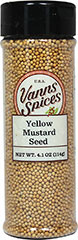 Yellow Mustard Seed <strong></strong><p><strong>From the Manufacturer:</strong></p><p>Yellow mustard seeds have a fresh clean aroma and a pungent flavor.  Mustard seeds add zest to a wide variety of dishes.</p> 4.1 oz Seeds  $2.69