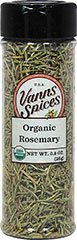 "Organic Rosemary <strong></strong><p><strong>From the Manufacturer:</strong></p><p>Rosemary is an herb that stems from the mint family. Its strong but pleasant taste makes it a refreshing companion to an extensive and diverse variety of foods.<span class=""bold-aboutinfo""> Try it in </span>sauces, soups, meat dishes, vegetables and fruit salads.</p> 0.9 oz Bottle  $6.99"
