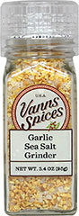 Garlic Sea Salt Grinder <b><p> From the Manufacturer:</b></p> <p>Just what it says it is, garlic and salt combined for time saving, all-purpose seasoning.</p> <p>No Preservatives, No Irradiation</p>  3.3 oz Grinder  $7.99