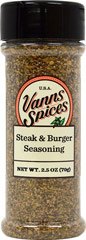 Steak and Burger Seasoning  2.8 oz Seasoning  $7.99