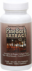 Pine Bark 150 mg <p><strong>From the Manufacturer's Label: </strong></p><p>One of the most potent antioxidants ever discovered, pine bark from the Eastern White Pine, Pinus massoniana, contains complex plant compounds known as proanthocyanidins.  Proanthocyanidins are condensed tannins that are responsible for the astringent character of fruits, berries, beans, and tea.  These bioflavonoids are powerful antioxidants, giving benefits to the cardiovascular system