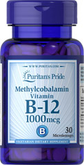 Methylcobalamin Vitamin B-12 1000 mcg <p>Methylcobalamin is a predominant and active form of Vitamin B-12 that supports heart health and energy metabolism**</p>  <p>Regular Vitamin B-12 supplements must be converted in the body to Methylcobalamin before they can provide any benefits – Methylcobalamin supplements allow you to bypass this step for quicker absorption</p>  30 Microlozenges 1000 mcg $5.99