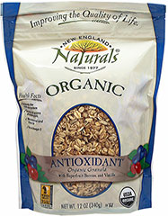 Organic Antioxidant Granola <p><b>From the Manufacturer: </p></b><p><b> Organic Antioxidant Granola with Superfruit, Berries and Vanilla </b></p><p>Whole grain, healthy great tasting granola has a balanced taste with the goodness that deeply colored antioxidant rich foods provide. </p><p>In a convenient resealable granola pouch.</p><p>Made with organic whole rolled oats, organic sugar, organic rice syrup, organic canol