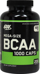 BCAA 1000 mg <p><b>From the Manufacturer's Label: </p></b><p>We are proud to bring you BCAA 1000 mg from Optimum Nutrition.  Look to Puritan's Pride for high-quality national brands and great nutrition at the best possible prices.</p> 200 Capsules 1000 mg $19.99