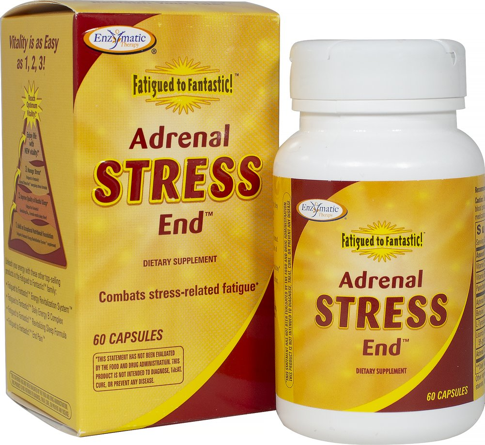 Fatigued To Fantastic™ Adrenal Stress End™ <p><strong>From the Manufacturer's Label: </strong></p><p>Fatigued to Fantastic™ Adrenal Stress End™ is manufactured by  Enzymatic Therapy.</p><p></p> 60 Capsules  $15.99