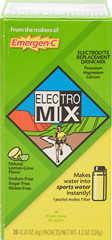 Electro Mix Lemon Lime <p><strong>From the Manufacturer's Label: </strong></p><p>Makes Water into Sports Water...Instantly!**</p><p>Sodium Free</p><p>Calorie Free</p><p>Sugar Free</p><p>Electrolyte Mix is a water additive and dietary supplement that contains nutritionally balanced essential electrolytes:  Potassium, Magnesium, Calcium, Manganese, plus Chromium.**</p><p>Electrolyte Mix tastes great, has