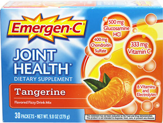 Emergen-C® Joint Health Tangerine <p><strong>From the Manufacturer's Label:</strong></p><p><strong>Vitamin C</strong> helps to produce collagen, the main constituent of cartilage in joints, which is necessary to keep joints healthy and flexible.**</p><p><strong>Glucosamine</strong> is a building block of cartilage and necessary for joint health and flexibility.**</p><p><strong>Chondroitin Sulfate</str