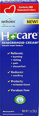 H+Care™ Hemorrhoid Cream <p><b>From the Manufacturer's Label: </p></b><p>Soothing Relief.</p> <p>Manufactured by NELSONS™</p> 1 oz Cream  $8.99