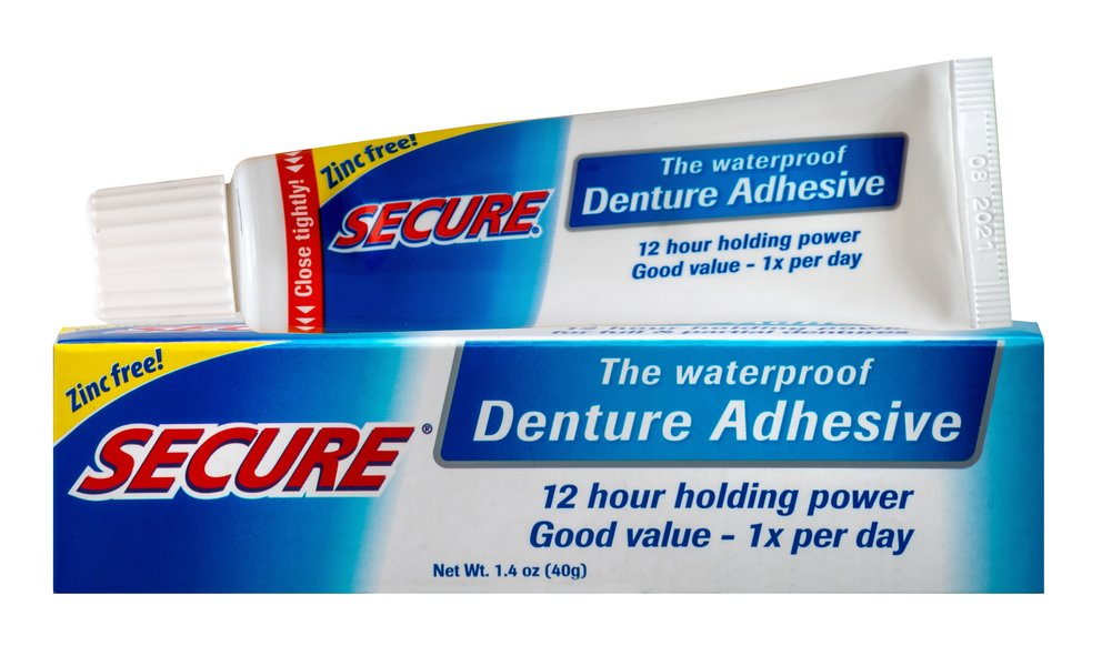 Secure® Denture Adhesive Cream <p><strong>From the Manufacturer's Label</strong></p><p>Secure is the Denture Adhesive that is waterproof.  This means that Secure will not wash away when you're eating or drinking.  It provides an extra strong bonding effect that assures your denture will be fixed to the gum for up to 12 hours. You will enjoy a completely new and natural denture feeling.</p><p>Secure gives you the confidence to speak and laugh