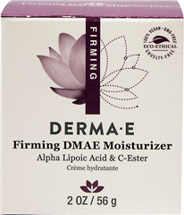 Derma E® DMAE, Alpha Lipoic, C-Ester Crème <p><strong>From the Manufacturer's Label: </strong></p><p>Widely-acclaimed DMAE and Alpha Lipoic Acid are combined with C-Ester in this rich moisturizing formula that both hydrates your skin and improves its elasticity.</p><p>Manufactured by DERMA E.</p><p></p> 2 oz Cream  $15.99