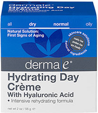 Derma E® Hyaluronic Acid Day Crème <p><b>From the Manufacturer:</b></p> <p><b>Ultra-Hydrating</b></p> <p><b>Helps Plump Fine Lines and Wrinkles</b></p>  <p><b>- This light and long-lasting moisturizer</b> is especially formulated to counteract dry skin and is formulated for day use.</p>  <p><b>- Hyaluronic Acid can hold up to 1000 times its weight in water </b>and has an am