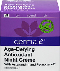 Derma E® Age-Defying Night Créme with Astaxanthin & Pycnogenol  <p><b>From the Manufacturer's Label:</b></p> <p>Derma E® Age-Defying Night Crème with Astaxanthin & Pycnogenol is manufactured by Derma E®.</p> 2 oz Cream  $25.49