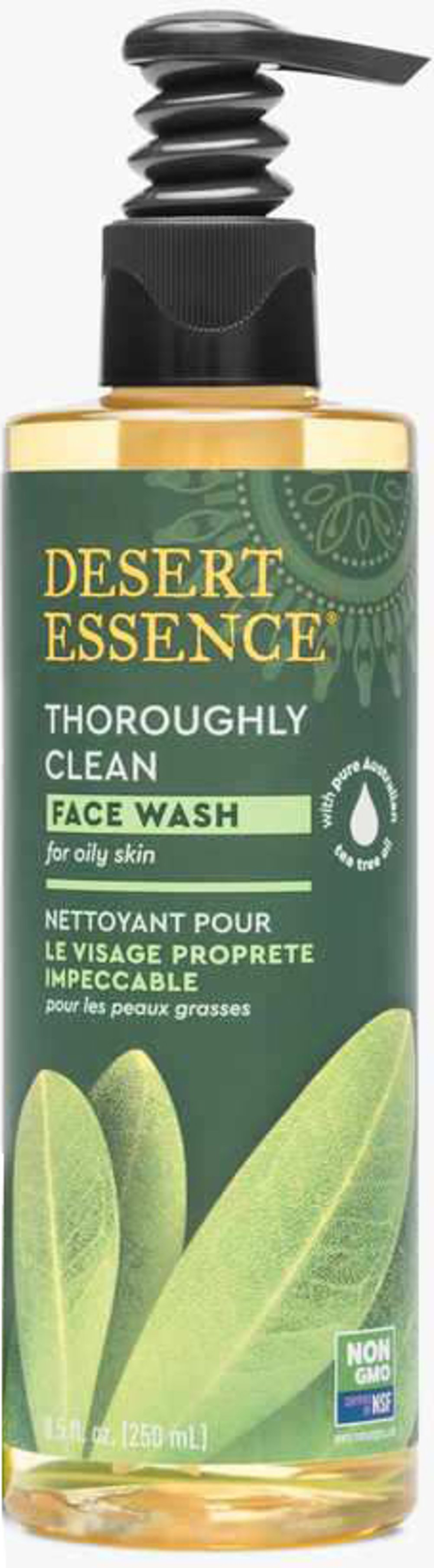 Tea Tree Oil Thoroughly Clean Face Wash for Oily/Combination Skin <p><b>From the Manufacturer's Label: </p></b><p>Desert Essence Thoroughly Clean Face Wash is a gentle cleansing solution that leave your skin feeling clean and silky. This unique face wash contains natural organic Tea Tree Oil. Included  also are extracts of Goldenseal, Hawaiian White Ginger, and the essential oil of Chamomile.  </p><p>Mineral rich Bladderwrack, harvested from the sea,