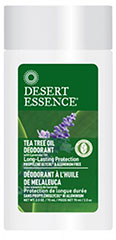 Tea Tree Oil Deodorant with Lavender Oil  2.5 oz Stick  $3.99