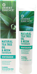 Tea Tree Oil & Neem Wintergreen Toothpaste  6.25 oz Paste  $4.29