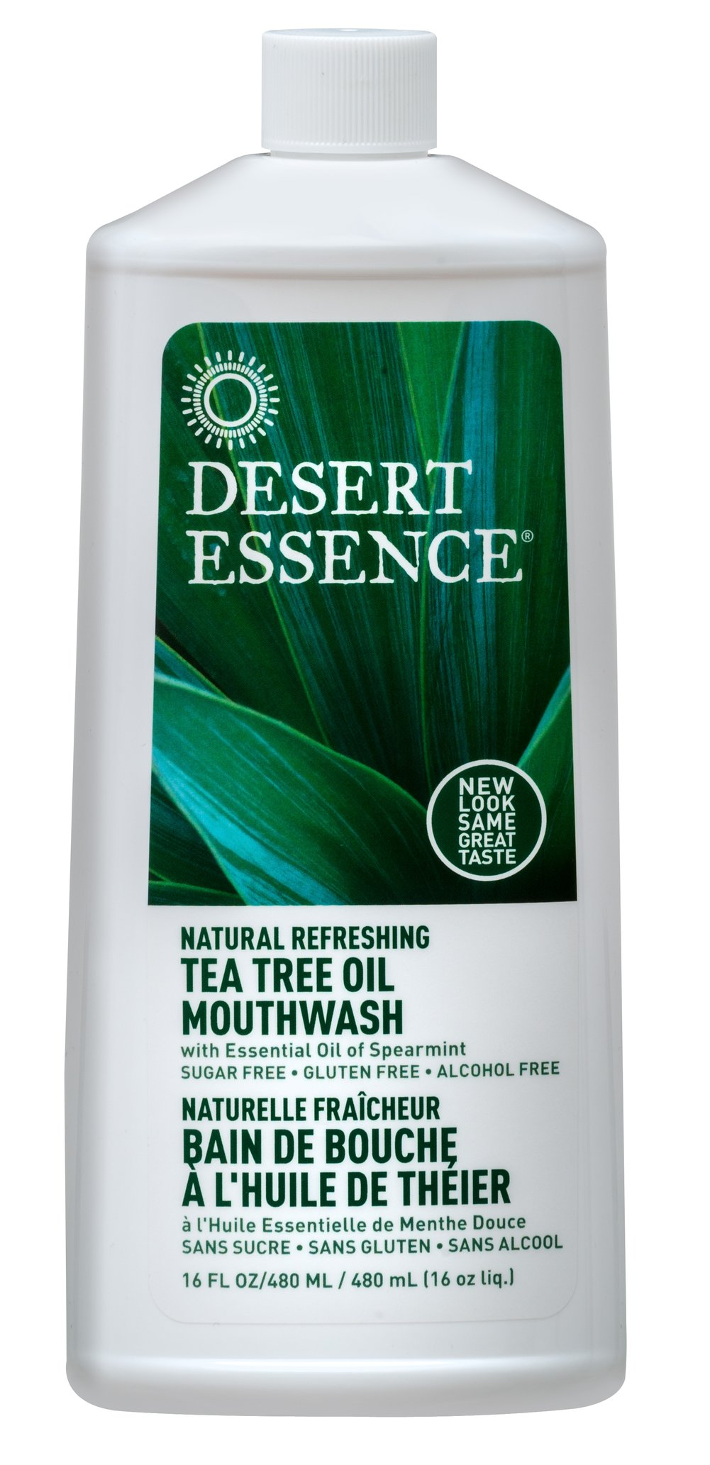 Tea Tree Oil Mouthwash With Spearmint <p><strong>From the Manufacturer's Label:</strong></p><p>Tea Tree Oil Mouthwash With Spearmint is manufactured by Desert Essence®.</p> 16 oz Liquid  $5.19