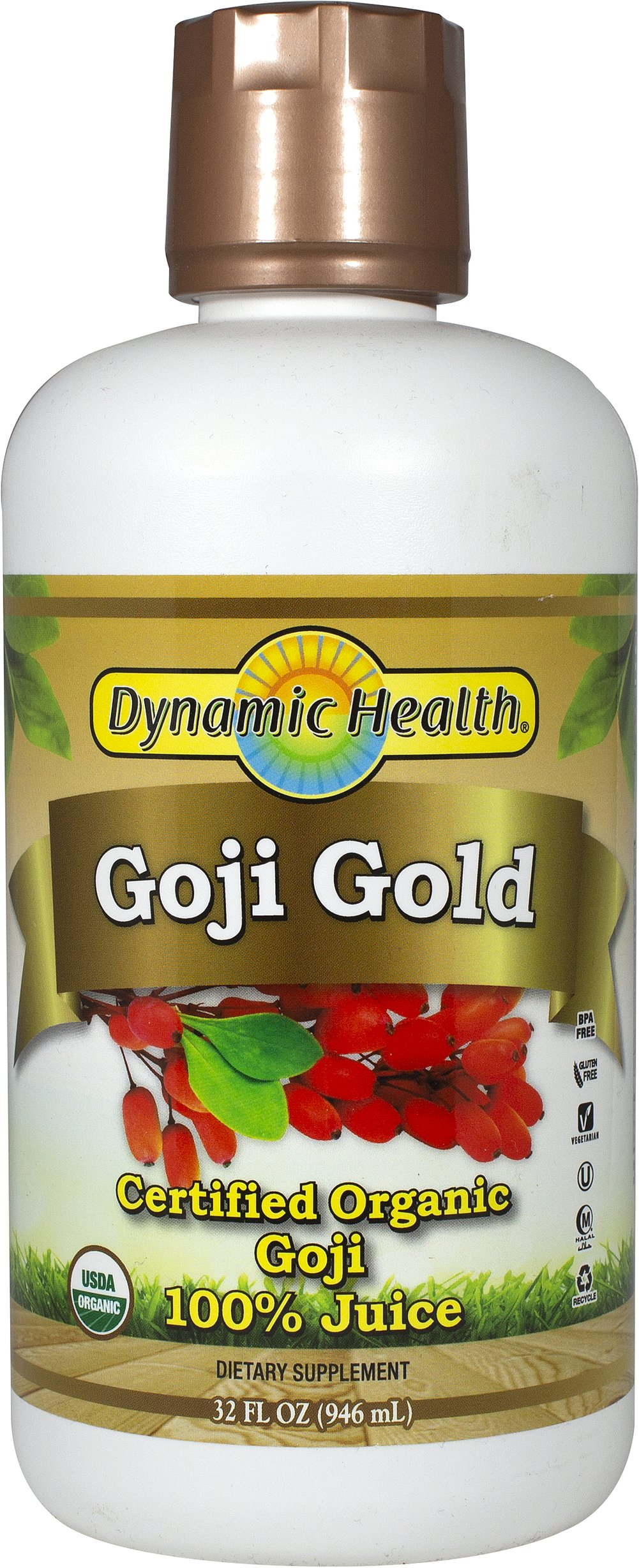 Organic Goji Gold 100% Pure Juice  32 oz Liquid  $23.99
