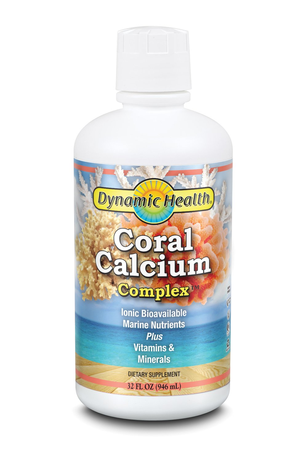 Coral Calcium Complex <p><strong>From the Manufacturer's Label: </strong></p><p>100% PURE BIOAVAILABLE OKINAWAN CORAL Maximum absorption liquid formula dynamic health coral calcium complex.*</p><p>Dynamic Health Laboratories, Inc. Coral Calcium Complex liquid formula offers a synergistic way to satisfy the body's thirst for natural elemental calcium, nutrient rich ionic trace minerals and essential vitamins. </p><p>Everyday stresses i