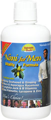 Noni for Men Vitality Formula <p><strong>From the Manufacturer's Label:</strong></p><p>Noni for Men Vitality Formula contains naturally occurring minerals, enzymes, antioxidants, vitamins, phytonutrients, and bioflavonoids. Combines the delicious taste of raspberry flavor and Noni juice, so you can enjoy sipping it pure or mixed with your favorite beverage.<br /></p> 32 oz Liquid  $15.99
