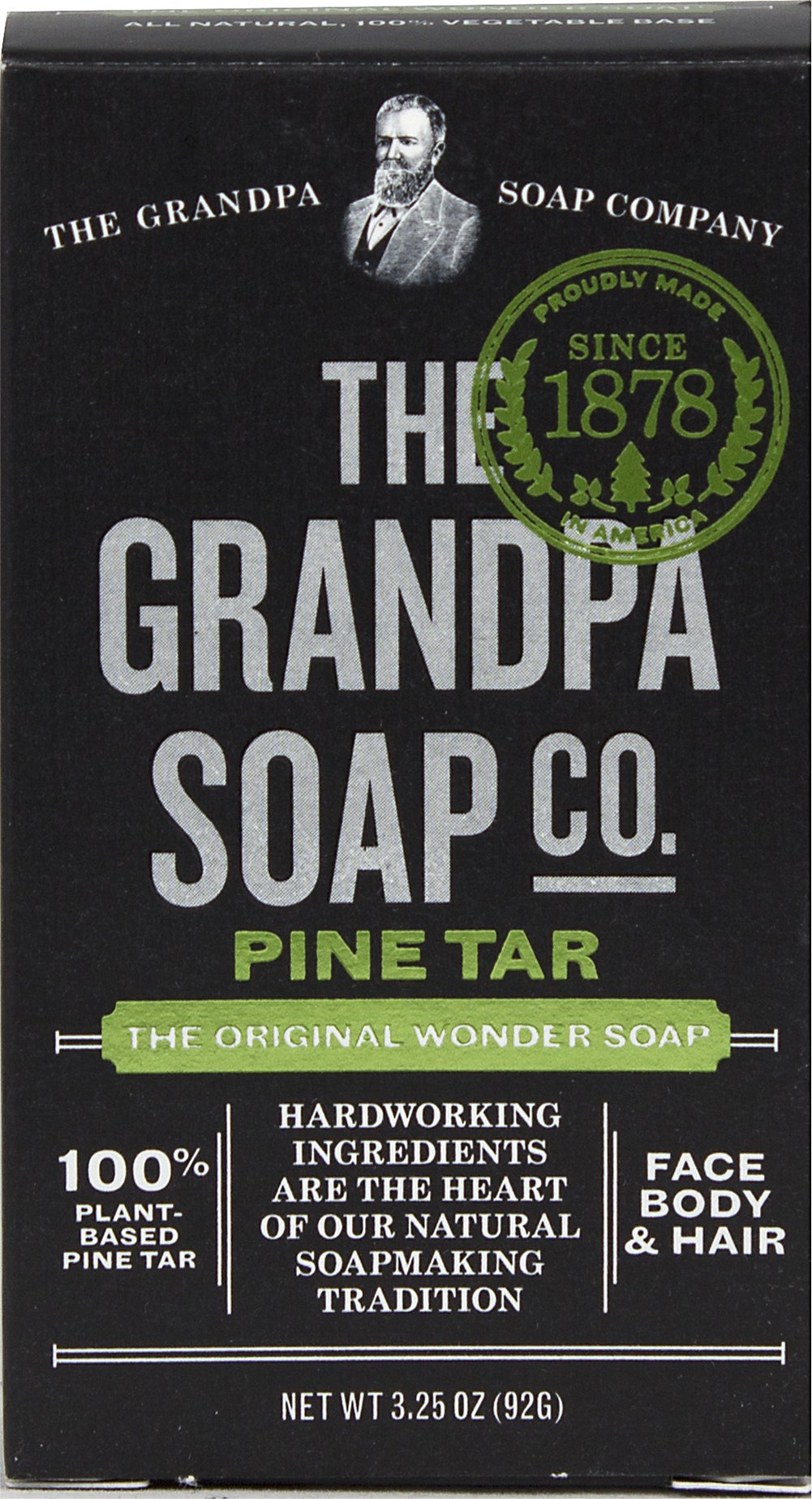 Grandpa's Pine Tar Bar Soap  3.25 oz Bar  $3.99