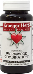Wormwood Combination <p><strong>From the Manufacturer's Label: </strong></p><p>Supports the body's natural resistance to Parasites.**</p><p>Manufactured by KROEGER HERB.</p> 100 Capsules  $7.79