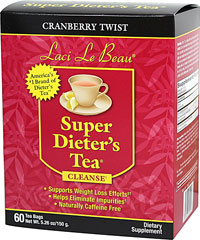 Super Dieter's Tea® - Cranberry Twist <strong> From the Manufacturer's Label:</strong><br /><br />    •Supports Weight Management Efforts**  <br />    •Helps Eliminate Impurities<br />    •Naturally Caffeine Free<br /><br /> Dieting can be difficult. But it can also be satisfying, especially with the help of this flavorful, all n