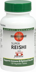 "Reishi Super <p><strong>From the Manufacturer's Label: </strong></p><p>To Support Healthy Blood Circulation**</p><p>Highly prized in China for thousands of years, Reishi was known as the ""Elixir of Immortality"" for its healing power and promoting longevity. As a tonic it helps maintain healthy immune, nervous and cardiovascular systems.**</p><p>Super Reishi is a full-spectrum product processed with both quality extract and fruit body of G"