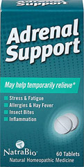 Adrenal Support <p><b>From the Manufacturer's Label: </p></b><p><b>Providing  glandular support for the symptoms of:</b> Stress & Fatigue, Allergies & Hay Fever, Insect Bites and Inflammation</p> 60 Tablets  $6.99