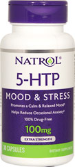 5-HTP 100 mg <p><b>From the Manufacturer's Label: </p></b><p>Promotes Balanced Serotonin Levels**</p><p>Helps Enhance Mood**</p><p>Helps Control Appetite**</p><p>Serotonin is a compound found in the body and concentrated especially in the brain. This neurotransmitter is responsible for regulation of mood and behavior.</p>   30 Capsules 100 mg $9.99