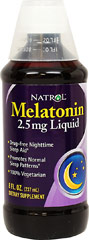 Melatonin 2.5 mg <p><strong>From the Manufacturer's Label: </strong></p><p>Natrol Melatonin supports healthy sleep patterns.**</p><p>The body naturally releases melatonin in response to changes in light, with melatonin levels rising at night. It is in this way, that melatonin helps promote sleep.**</p> 8 fl oz Liquid 2.5 mg $8.39
