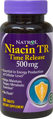 Niacin 500 mg Timed Release <p><strong>From the Manufacturer's Label: </strong></p><p>Niacin is Essential in Energy Production at the Cellular Level*</p><p>Niacin Helps Maintain Proper Metabolic Function*</p><p>No Flush*</p><p>Niacin-TR 500 mg Time Release has a delivery system that releases Niacin steadily. This time release technology allows for zero flush. Flushing is an effect often associated with Niacin in a standardized