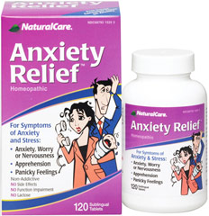 Anxiety Relief <p><strong>From the Manufacturer's Label: </strong></p><p>Homeopathic</p><p>For Symptoms of Anxiety and Stress**:</p><p></p><p>Anxiety, Worry or Nervousness**</p><p>Apprehension**</p><p>Panicky Feelings**</p><p>Non-Addictive**</p><p>No Side Effects**</p><p>No Function Impairment**</p><p>No Lactose</p><p>Anxiety Relief™ helps make