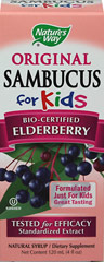 Sambucus for Kids <p><strong>From the Manufacturer's Label: </strong></p><p>For centuries the dark berries of European black elder (Sambucus nigra L.) have been traditionally used as a winter remedy.  In recent years, medical researchers have proven its efficacy in clinical trials.</p><p>Delicious Tasting  Syrup Especially for Children</p><p>Elderberry, Echinacea and Propolis</p><p>Berry Flavored</p><p>Virologist T