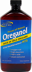 Oreganol™ Wild Mediterranean P73 Juice <B>From Manufacturer's Label:</B> <P>Oreganol P73 Juice of Wild Oregano I steh aromatic essence of wild oregano.  It is produced by a special process using only wild mountain-grown oregano.  Rich in oxygenated compounds, this oregano juice has been used for thousands of years and contains substances entirely unique when compared to those found in oregano oil.  Oregano P73 Juice of Wild Oregano is free of all chemicals, solvents, and ad