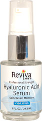 Reviva® Labs High Potency Hyaluronic Acid Serum <p><strong>From the Manufacturer's Label: </strong></p><p>Their highest potency daily moisture booster!  Reviva Labs has now compounded a higher level of premium Hyaluronic Acid into a precious fluid that can help raise skin's moisture level to fill-in furrows, plump up tissues, and tone down age lines.**</p><p>Manufactured by  Reviva® Labs.</p> 1 fl oz Serum  $16.99