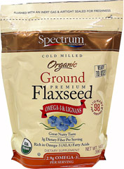 Ground Premium Flaxseed <p><b>From the Manufacturer: </p></b><p>Premium Flaxseed: Omega-3 & Lignans.</p> <p>Great Source of Fiber, Rich in Essential Fatty Acids.</p> <p>Great Nutty Taste.</p>  <p>Manufactured by Spectrum Naturals.</p> 14 oz Ground  $6.49