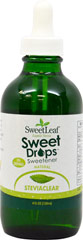 Stevia Liquid Extract Sweet Drops™ Sweetener From the Manufacturer's Label<br /><br />•  All Natural<br />•  Zero Calories<br /><br />SweetLeaf Liquid Stevia is a natural, convenient and healthy sweetener. It contains no calories or carbohydrates and may be used in tea, coffee, smoothies, protein shakes or any recipe. SweetLeaf Liquid Stevia is delicious, has no aftertaste, and is diabetic friendly. <br /><br />Manufactured by Sweet