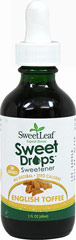 Stevia Liquid Extract English Toffee <p><strong>From the Manufacturer's Label:</strong></p><p>Stevia Liquid English Toffee is manufactured by Sweet Leaf.</p> 2 oz Liquid  $10.99