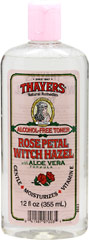 Thayers® Rose Petal Witch Hazel with Aloe Vera Toner <p><b>From the Manufacturer's Label: </p></b><p>Alcohol-Free Toner, Hydrates Dry Skin, Moisturizes Delicate Skin**</p>  <p>Manufactured by Thayers®</p> 12 fl oz Bottle  $5.69
