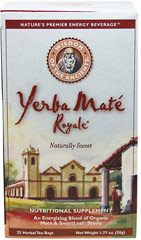 Yerba Maté Royale® Tea <p><b>From the Manufacturer's Label:</b></p>  <p>Yerba Maté Royale® Tea is manufactured by Wisdom of the Ancients.</p>	 25 Tea Bags