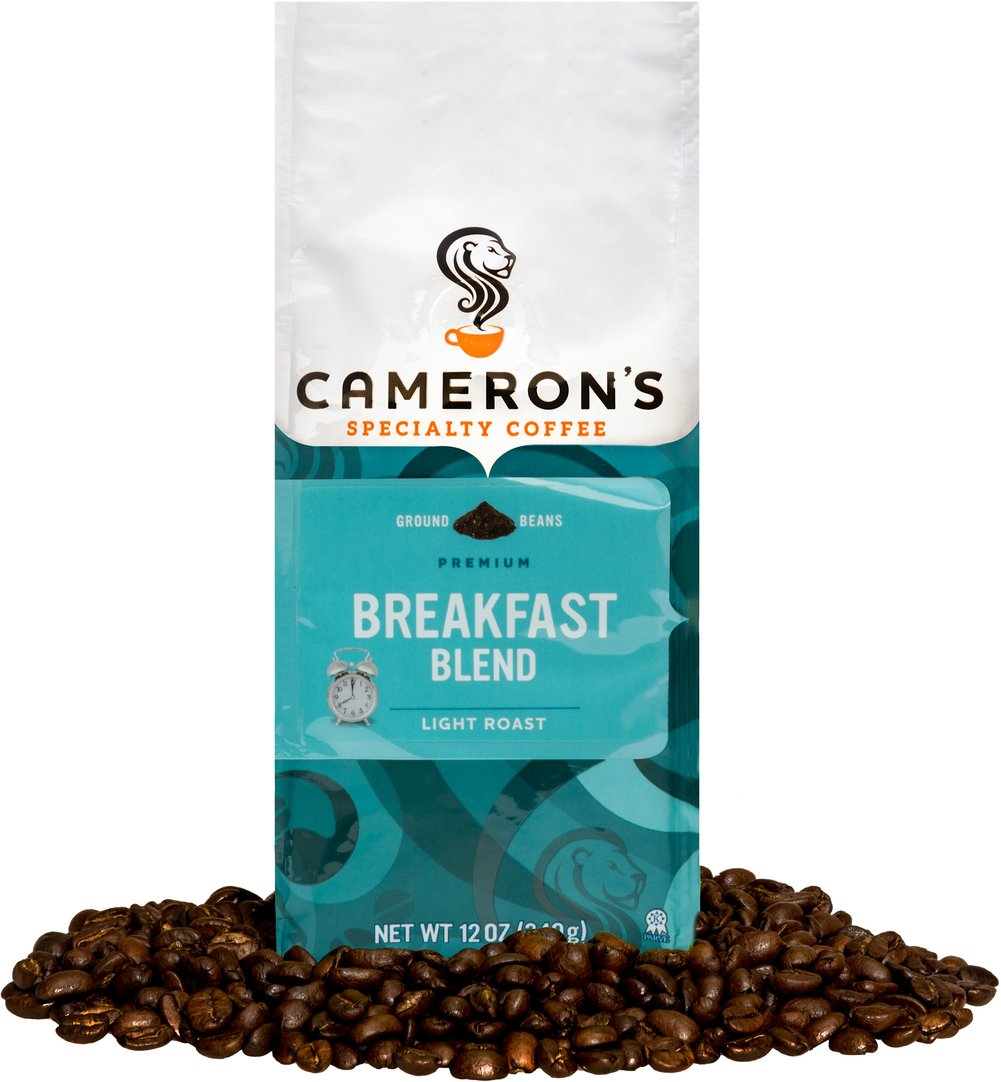 Breakfast Blend Ground Coffee <p><strong>From the Manufacturer's Label: </strong></p><p>Roasted and blended to pure excellence, the lush boldness of this blend is a terrific companion to your morning meal. We use only the most flavorful Arabica beans, carefully blended and roasted in small batches, and rushed fresh to you for a truly wonderful cup of coffee.</p> 12 oz Bag  $14.39