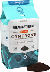 Breakfast Blend Decaf Ground Coffee <p><strong>From the Manufacturer's Label: </strong></p><p>Roasted and blended to pure excellence, the lush boldness of this decaffeinated blend is a terrific companion to your morning meal. We use only the most flavorful Arabica beans from around the world, carefully blended and roasted in small batches, and rushed fresh to you for a truly wonderful cup of coffee. </p> 12 oz Bag  $15.99