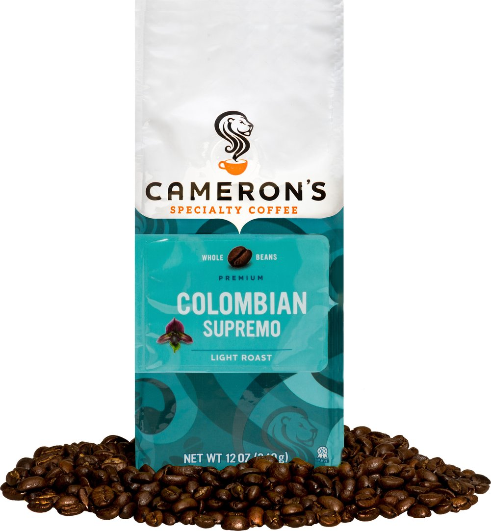 Colombian Supremo Whole Bean Coffee  12 oz Bag  $15.99