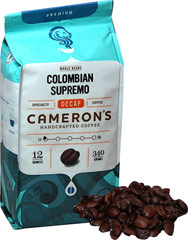 Colombian Supremo Decaf Whole Bean Coffee <p><strong>From the Manufacturer's Label: </strong></p><p>Many coffee lovers prefer to grind their coffee beans themselves, because they know that doing so results in an impossibly fresh cup. Colombian Supremo uses Colombia's highest-grade specialty coffee beans to bring you a magical cup of decaffeinated coffee brimming with rich flavor. We use only the most flavorful Arabica beans from around the world, carefully b