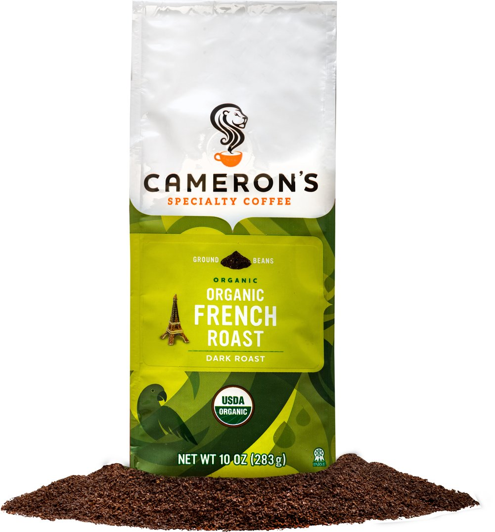 Organic French Roast Ground Coffee <p><strong>From the Manufacturer's Label: </strong></p><p>A coffee for true coffee lovers, our French Roast premium coffee has a striking, robust, nearly bittersweet flavor that you won't soon forget. We use only the most flavorful Arabica beans from around the world, carefully blended and roasted in small batches, and rushed fresh to you for a truly wonderful cup of coffee.</p> 10 oz Bag  $14.39