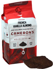 "French Vanilla Almond Ground Coffee <p><b>From the Manufacturer's Label: </p></b><p><span class=""bold-text"">Made from 100% Arabica Beans, Kosher</span></p> <p><span class=""bold-text"">Flavor: </span>Sweet, sumptuous vanilla and rich almond flavor.</p> <p><span class=""bold-text"">Taste: </span>Rich, sweet vanilla counterbalanced by a distinct nuttiness.</p> <p><"