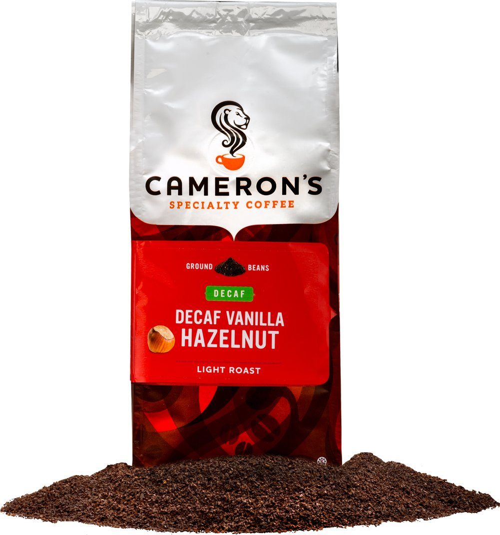 Vanilla Hazelnut Decaf Ground Coffee  12 oz Bag  $15.99