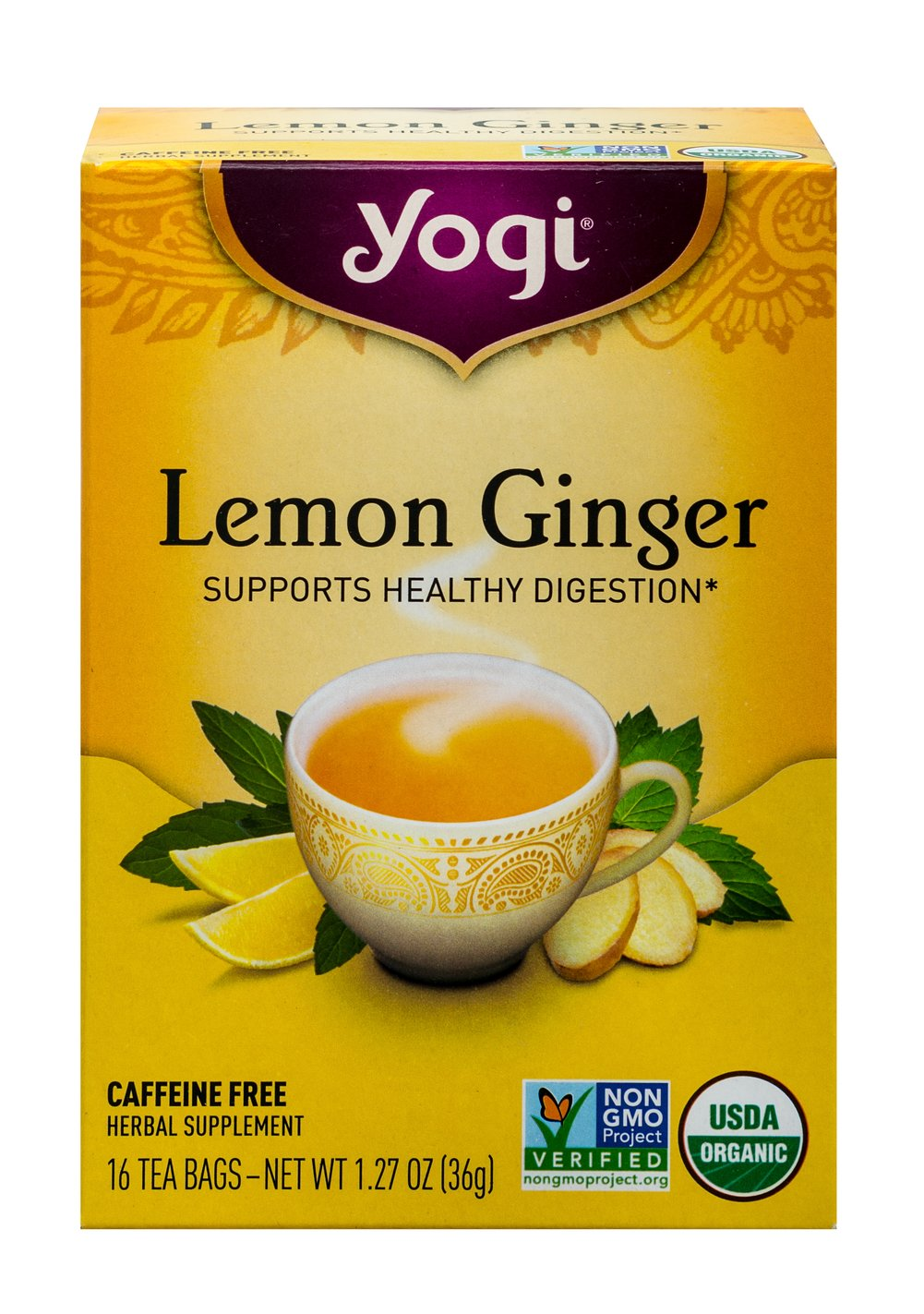 Lemon Ginger Tea  16 Tea Bags  $7.99